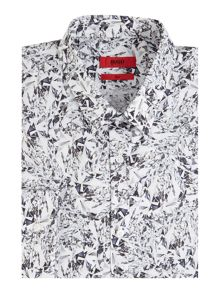 Hugo Jason Slim Fit Geo Print Shirt