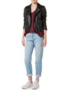 Label Lab Elba leather biker jacket