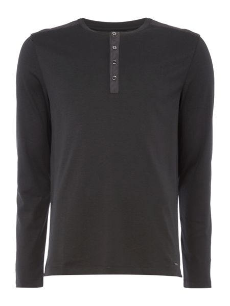 Michael Kors Nylon trim long sleeve henley