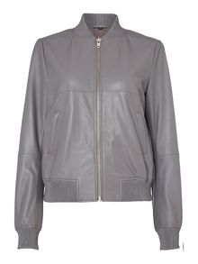 Label Lab Alder Leather Bomber Jacket