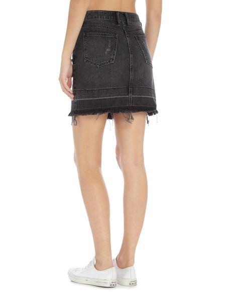 Bardot lulu denim mini skirt
