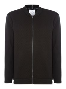 Calvin Klein Sculpture Quilted Zip Up Sweatshirt