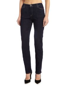 Armani Jeans J85 high rise straight jean in denim indaco