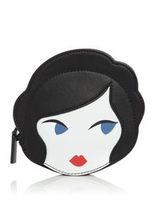 Lulu Guinness Lulu doll face foldaway shopper