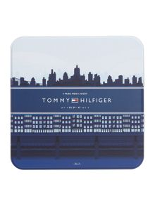 Tommy Hilfiger 4 Pack Argyle and Plain Tinned Sock Gift Set