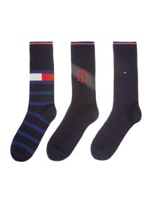 Tommy Hilfiger 3 Pack Logo Tinned Sock Gift Set