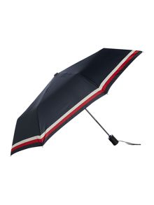 Tommy Hilfiger Flag Logo and Stripe Umbrella