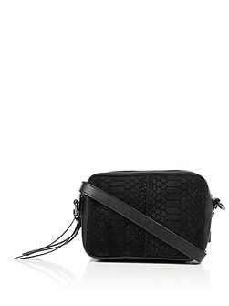 Hadley mixed leather crossbody bag
