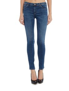 Armani Jeans J18 mid rise skinny jeans in denim indaco