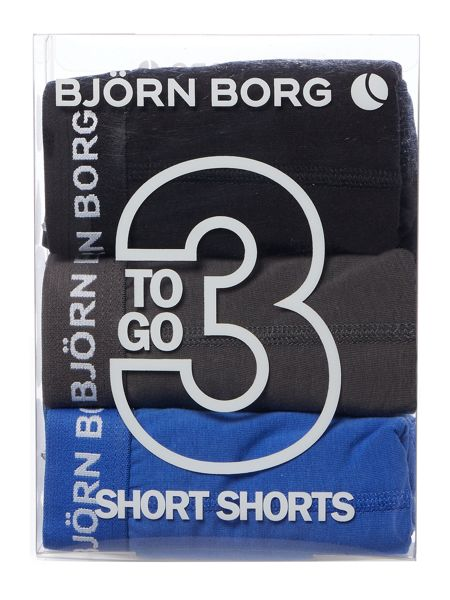 Bjorn Borg 3 Pack Seasonal Solid Trunk