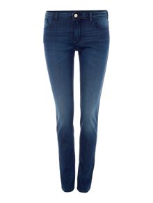 Armani Jeans J28 mid rise skinny jeans in denim indaco