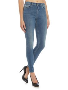 Armani Jeans J20 high rise super skinny jean in blu denim