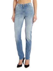 Armani Jeans J18 dahlia high rise slim jean in blu denim