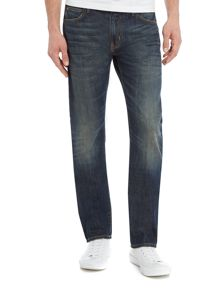 Armani Jeans J45 Green cast slim fit jeans