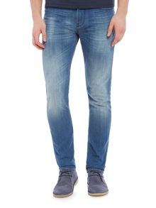 Armani Jeans J06 light wash slim fit jeans