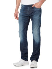 Armani Jeans J45 Medium wash slim fit jeans