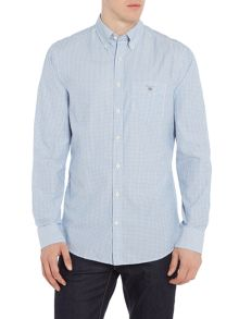 Gant Textured-Gingham Long-Sleeve Shirt