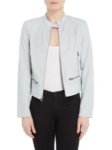 Andrew Marc PU central zip jacket