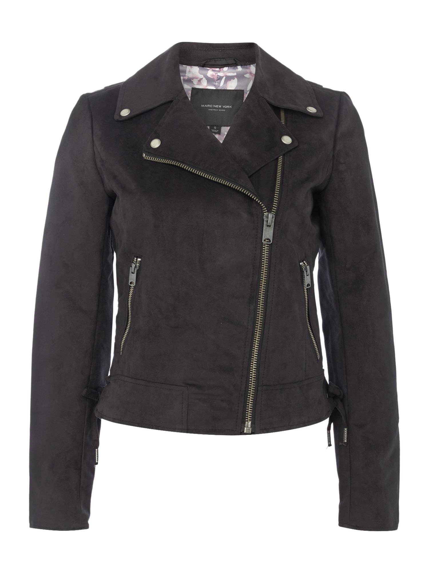 Andrew Marc Faux suede jacket, Black