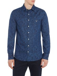 Gant Leaf-Print Long-Sleeve Shirt