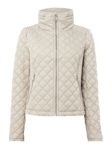Andrew Marc Quilted jacket with zip detail sleeve
