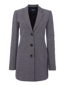 Armani Jeans Textured contrast stitching overcoat
