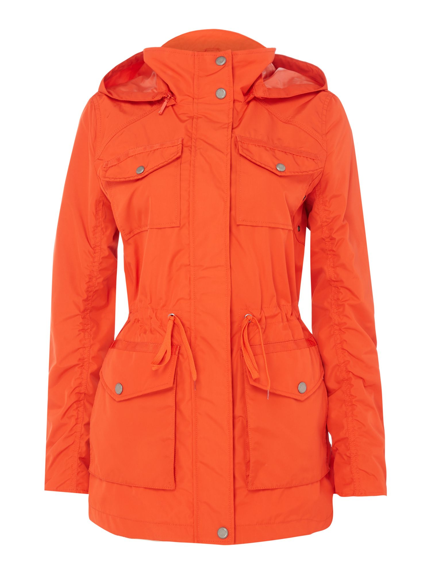 Andrew Marc Lightweight hooded parka, Orange