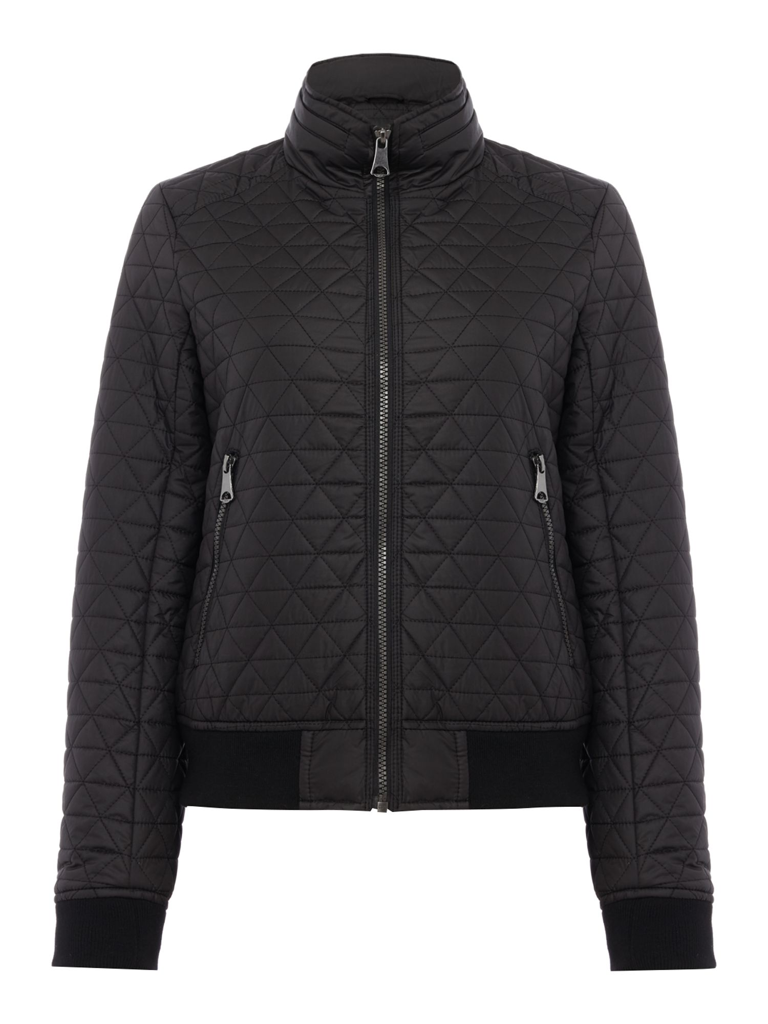 Andrew Marc Quilted bomber jacket, Black