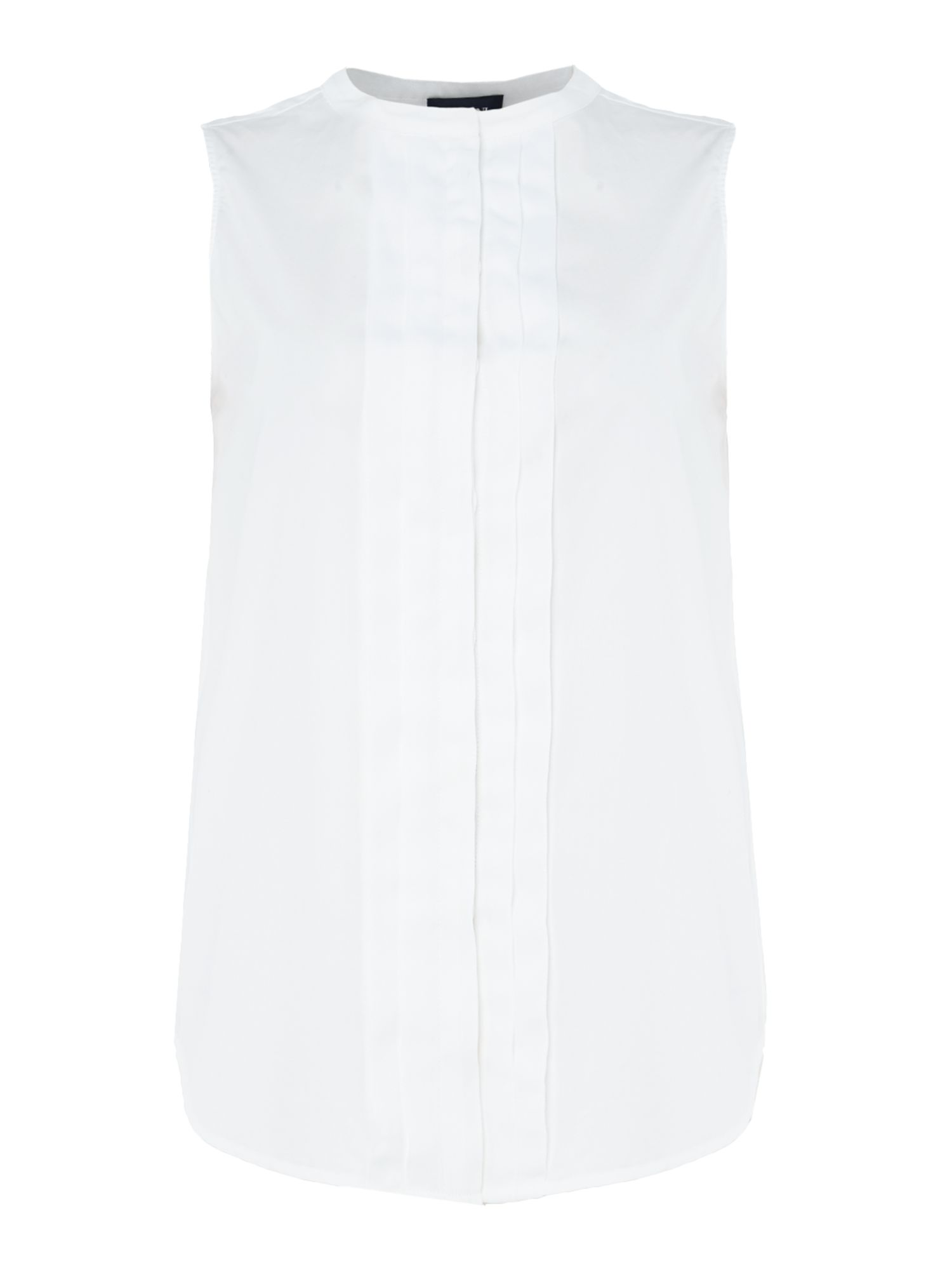 Armani Jeans Sleeveless front folds top, White