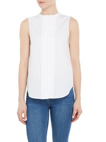 Armani Jeans Sleeveless front folds top