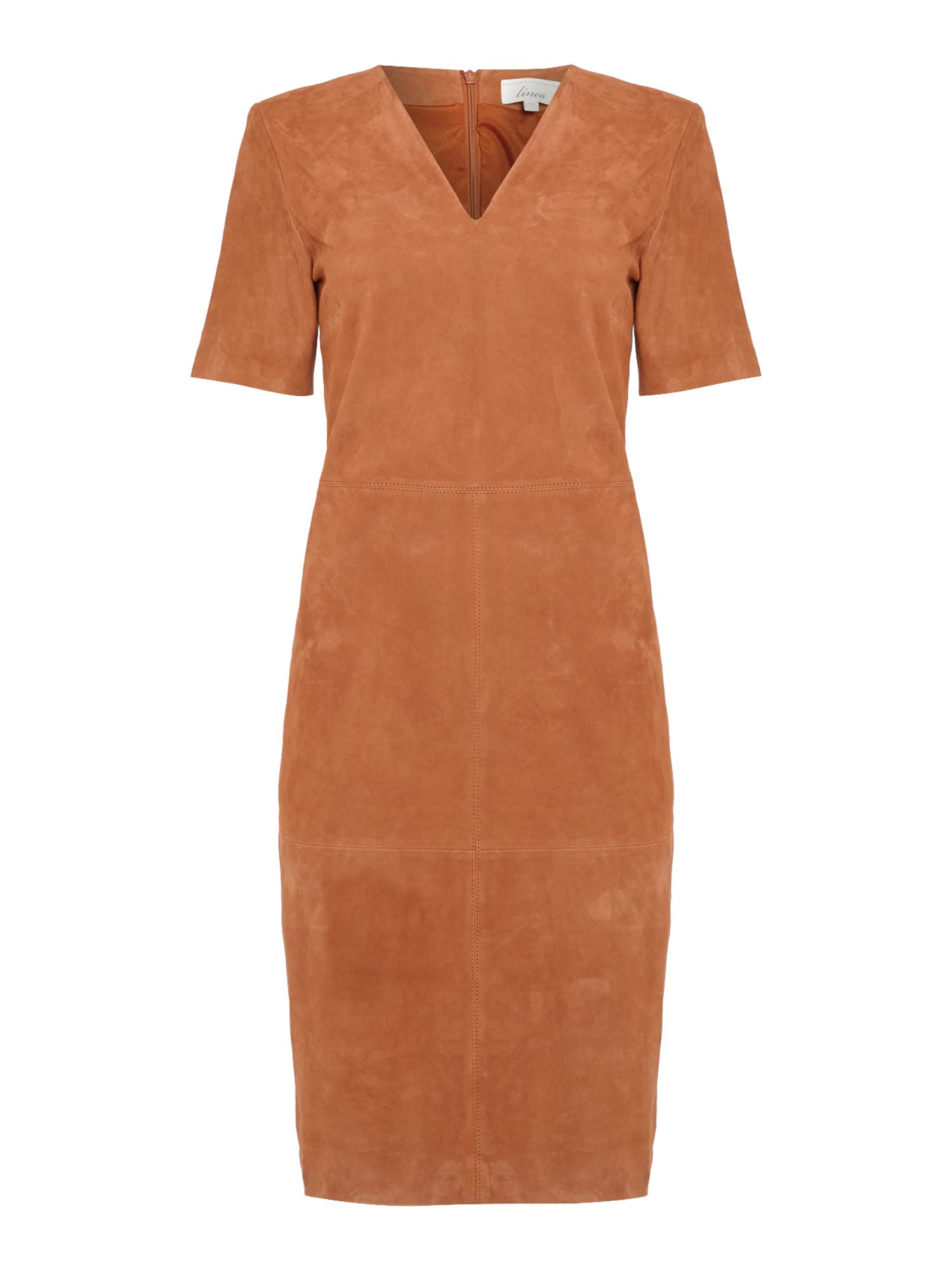 Linea Hazel Suede Dress, Rust