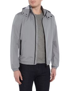 Armani Jeans Taped zip hooded jacket