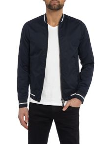 Armani Jeans Tipped bomber jacket with back logo