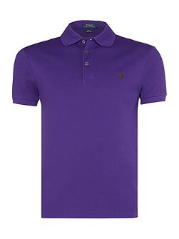 Slim fit stretch mesh short sleeve polo
