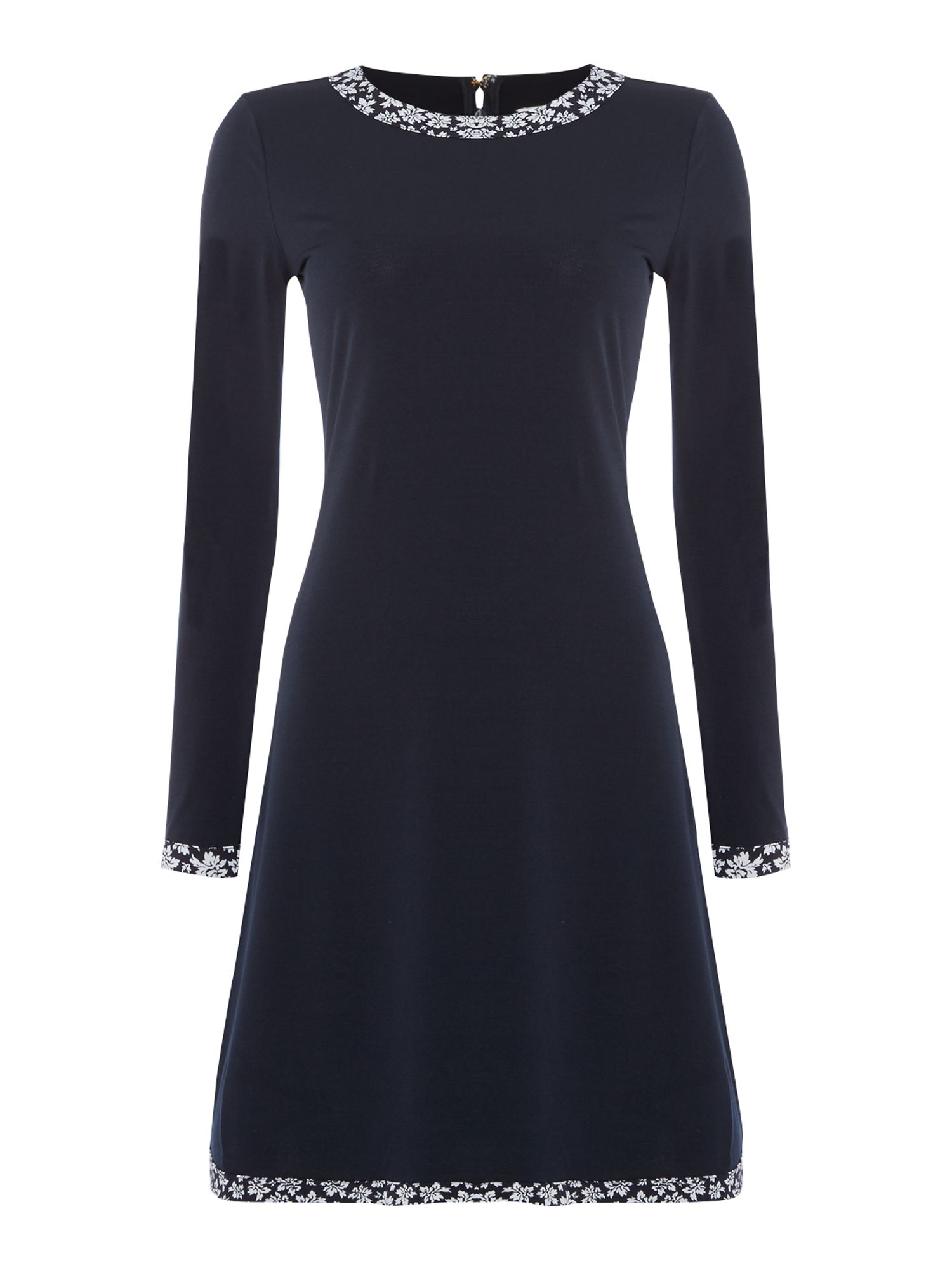 Michael Kors Bayeux Longsleeve Trim dress, Blue