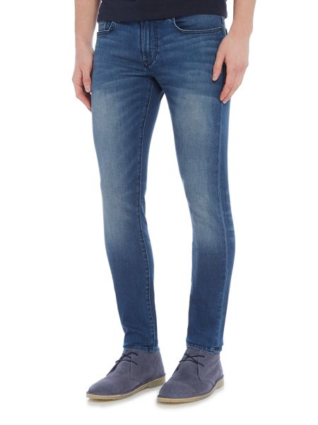 Hugo Boss Orange 72 skinny fit mid wash jeans