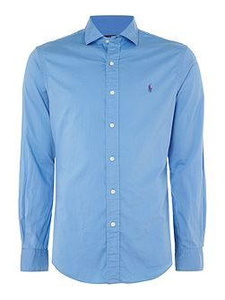 Long sleeve slim fit twill shirt