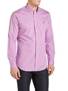 Polo Ralph Lauren Custom fit long sleeve butcher stripe shirt