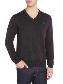 Gant Cotton V-Neck Jumper