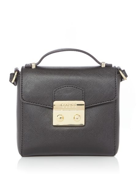Guess Aria lock flapover tote bag