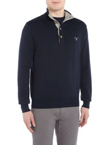 Gant Mock Neck Cotton Knitted Jumper