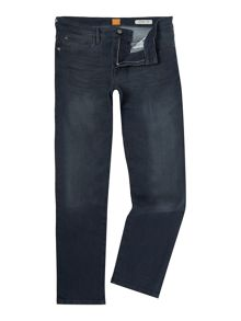 Hugo Boss Orange 24 regular fit navy jeans