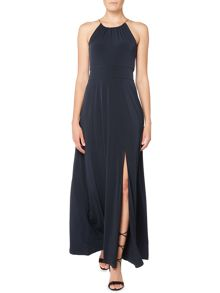 Michael Kors Sleeveless Halter Maxi Dress