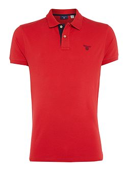Contrast Collar Cotton Polo-Shirt