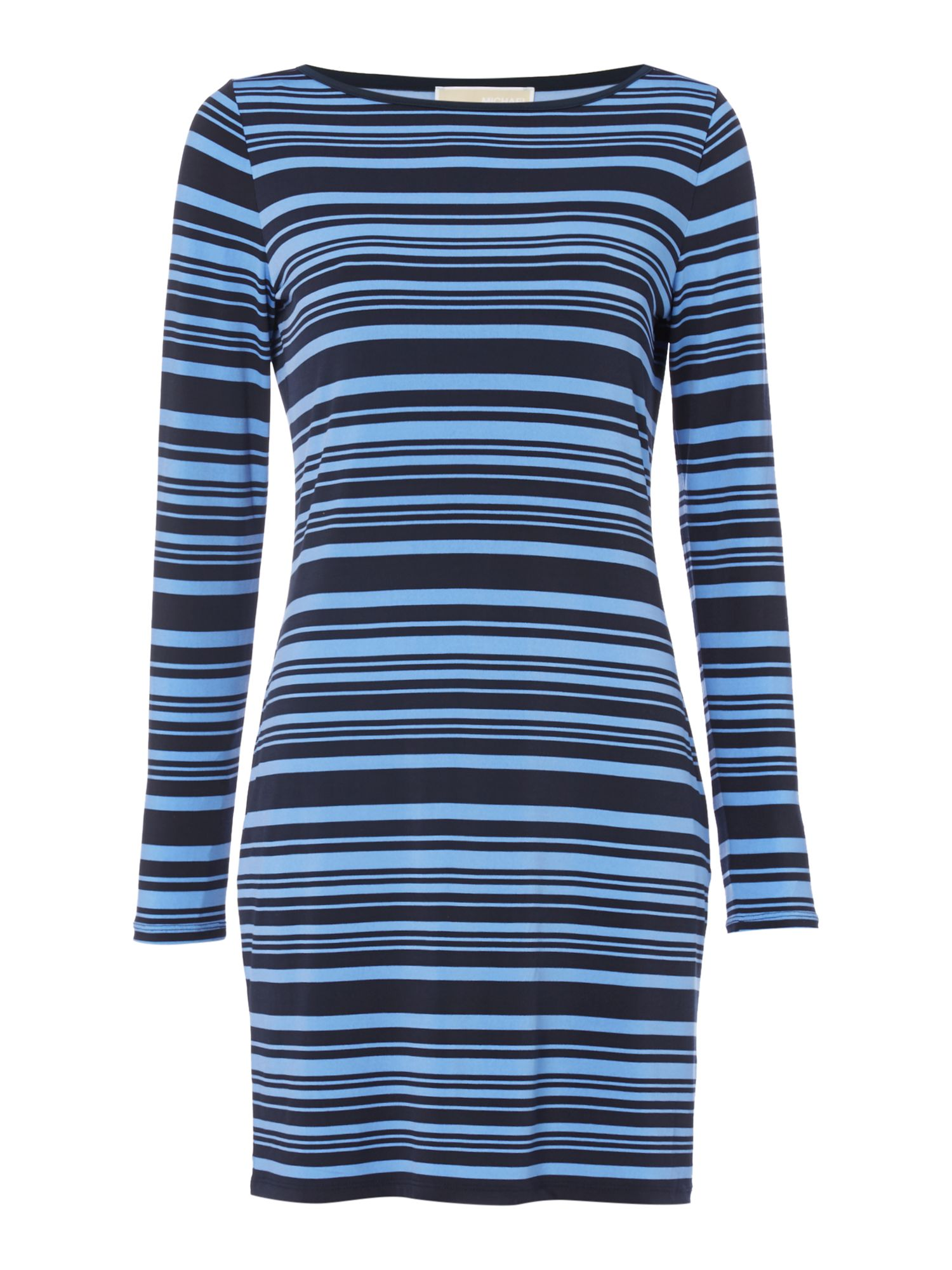 Michael Kors Longsleeve Striped Tunic Dress, Blue