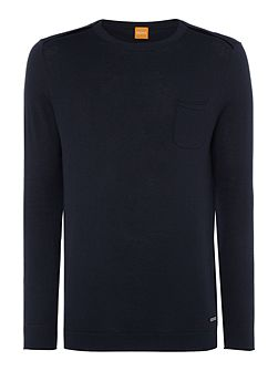 Krewyt cotton blend crew neck jumper