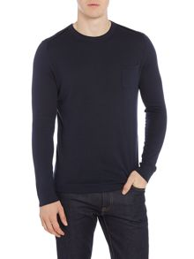 Hugo Boss Krewyt cotton blend crew neck jumper
