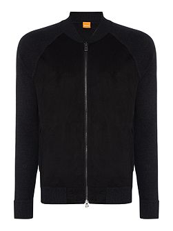 Arbomer zip-up faux suede front jumper
