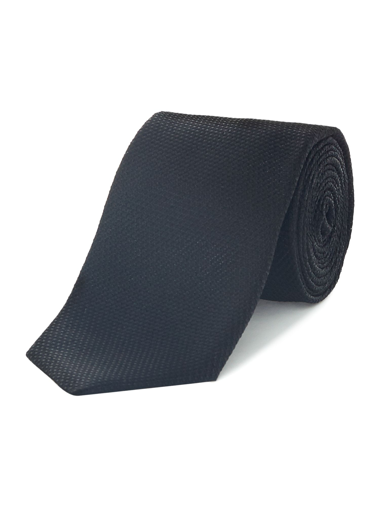 HUGO Hugo Textured 7CM Silk Tie, Black