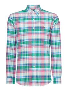 Polo Ralph Lauren Custom fit long sleeve bright check oxford